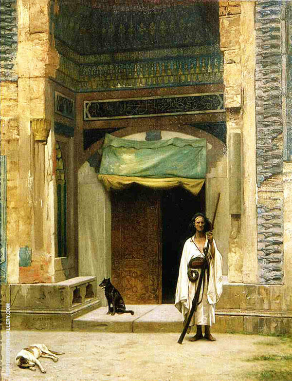 Door of The Green Mosque 1880 By Jean Leon Gerome
