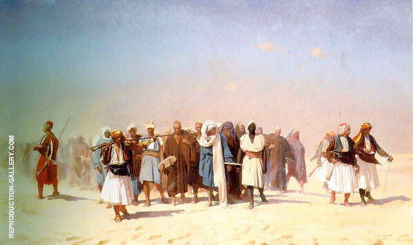 Egyptian Recruits Crossing The Desert 1859 By Jean Leon Gerome