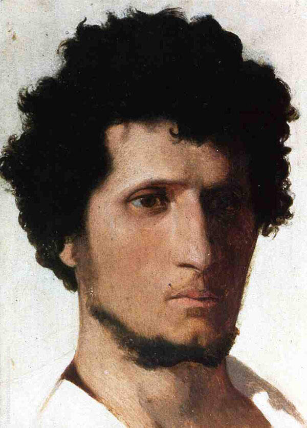 Head of a Peasant from The Roman Campagne 1843 By Jean Leon Gerome