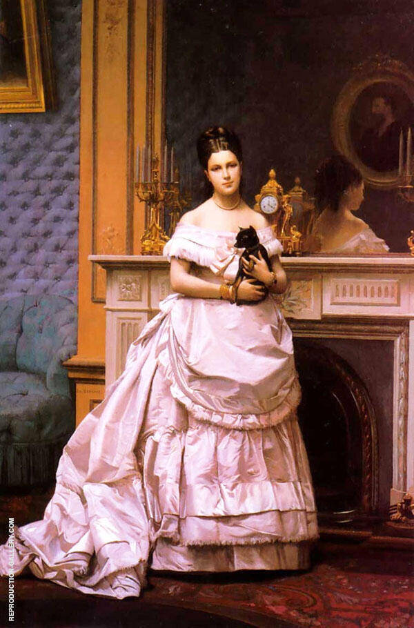 Portrait Marie Gerome 1867 By Jean Leon Gerome