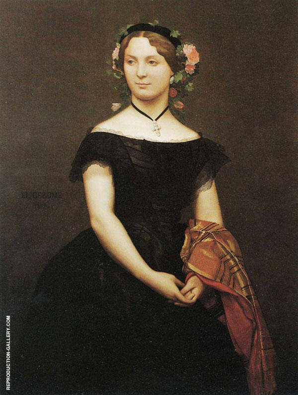 Portrait of Mademoiselle Durand 1853 By Jean Leon Gerome