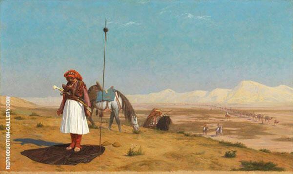 Prayer in The Desert 1864 By Jean Leon Gerome