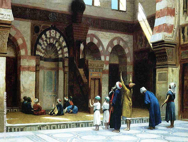 Prayer in The Mosque of Caid Bey in Cairo 1895 By Jean Leon Gerome