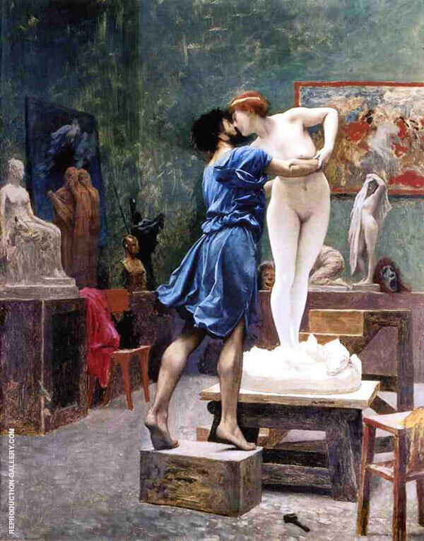 Pygmalion and Galatea Study 1890 By Jean Leon Gerome