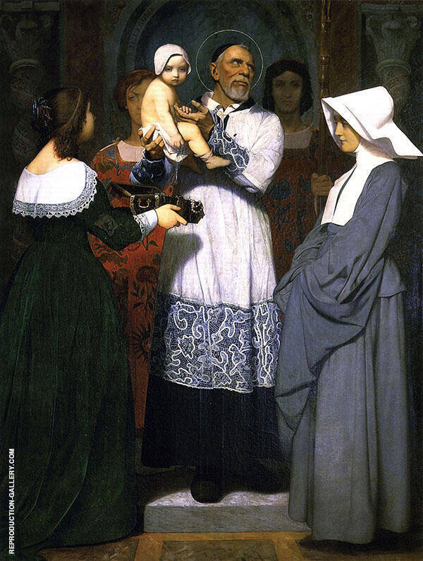 Saint Vincent de Paul Painting By Jean Leon Gerome - Reproduction Gallery
