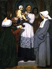 Saint Vincent de Paul By Jean Leon Gerome