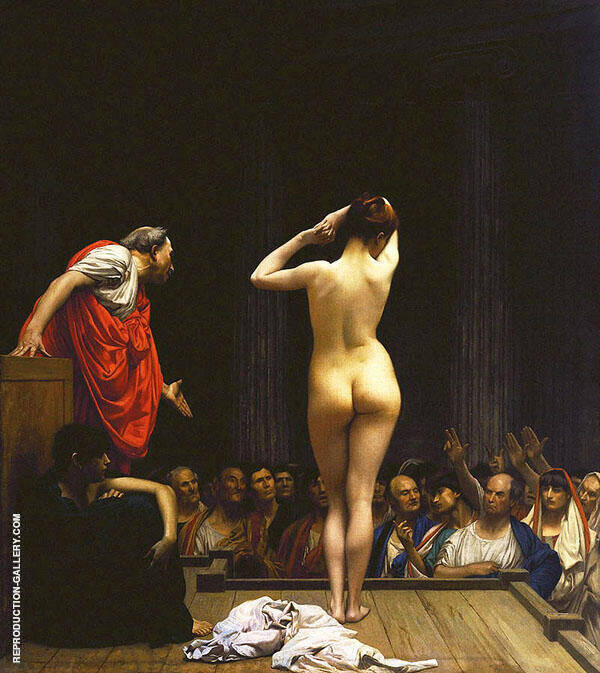 Selling Slaves in Rome 1886 Painting By Jean Leon Gerome