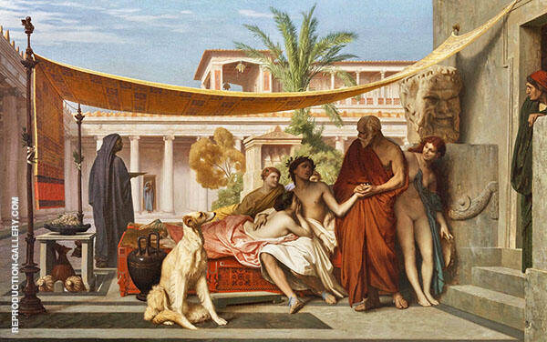 Socrates Seeking Alcibiades in The House of Aspasia 1861 By Jean Leon Gerome