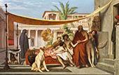 Socrates Seeking Alcibiades in The House of Aspasia 1861 By Jean Leon Gerome