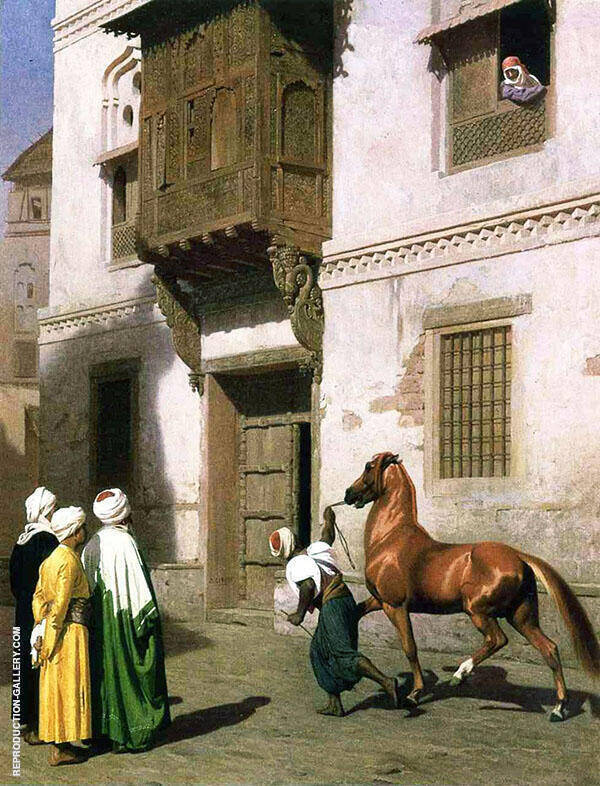 Horse Merchant in Cairo 1867 Painting By Jean Leon Gerome