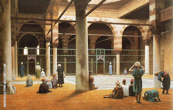 Interior of a Mosque 1875 By Jean Leon Gerome
