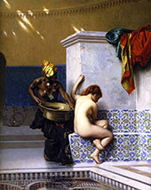Lady of Cairo Bathing By Jean Leon Gerome