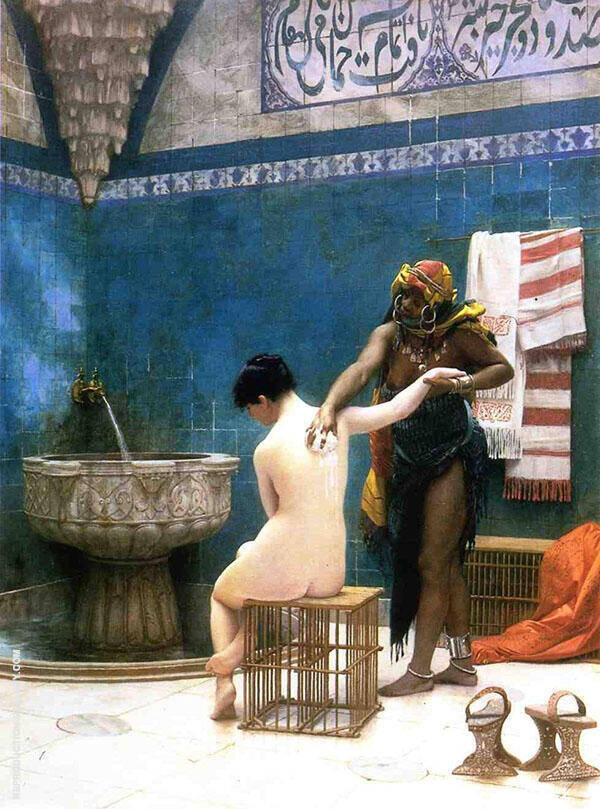 Moorish Bath 1870 Painting By Jean Leon Gerome - Reproduction Gallery