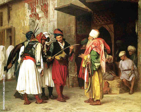 Old Clothing Merchant in Cairo 1866 Painting By Jean Leon Gerome
