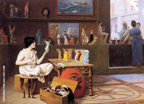 Painting Breathes Life into Sculpture 1893 Painting By Jean Leon Gerome