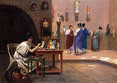Painting Breathes Life into Sculpture aka Tanagras Studio 1893 By Jean Leon Gerome