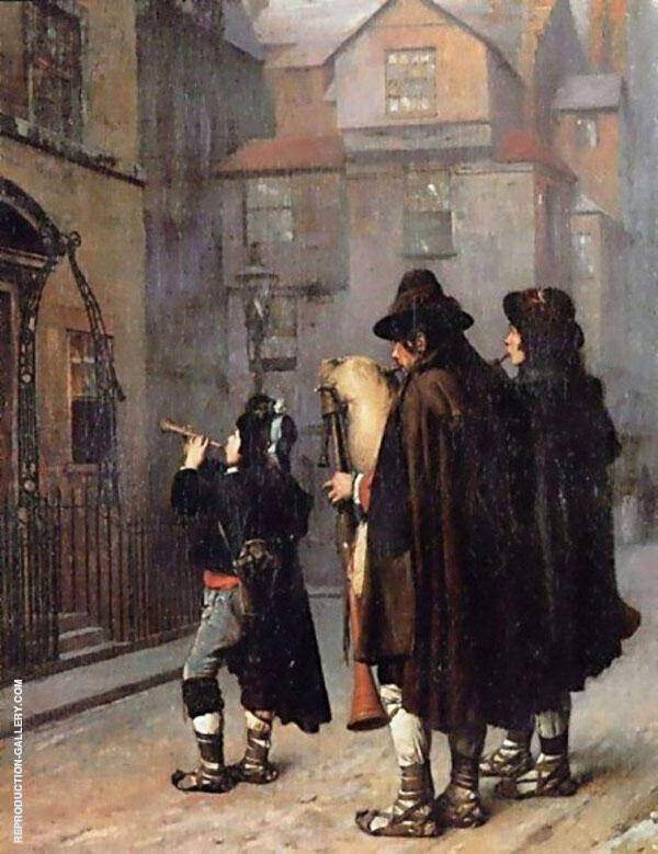 Pifferari in London 1870 Painting By Jean Leon Gerome