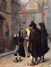 Pifferari in London 1870 By Jean Leon Gerome