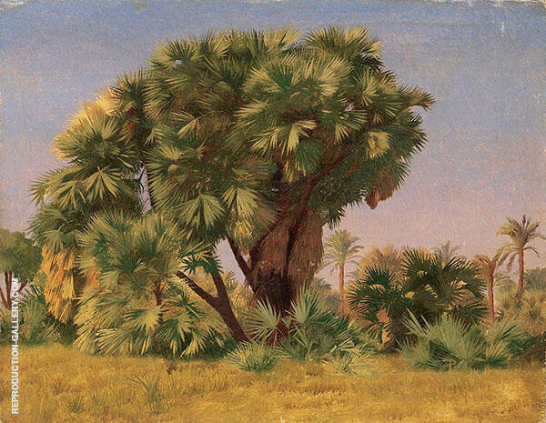 Study of Palm Trees c1888 Painting By Jean Leon Gerome