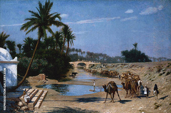 The Caravan Painting By Jean Leon Gerome - Reproduction Gallery