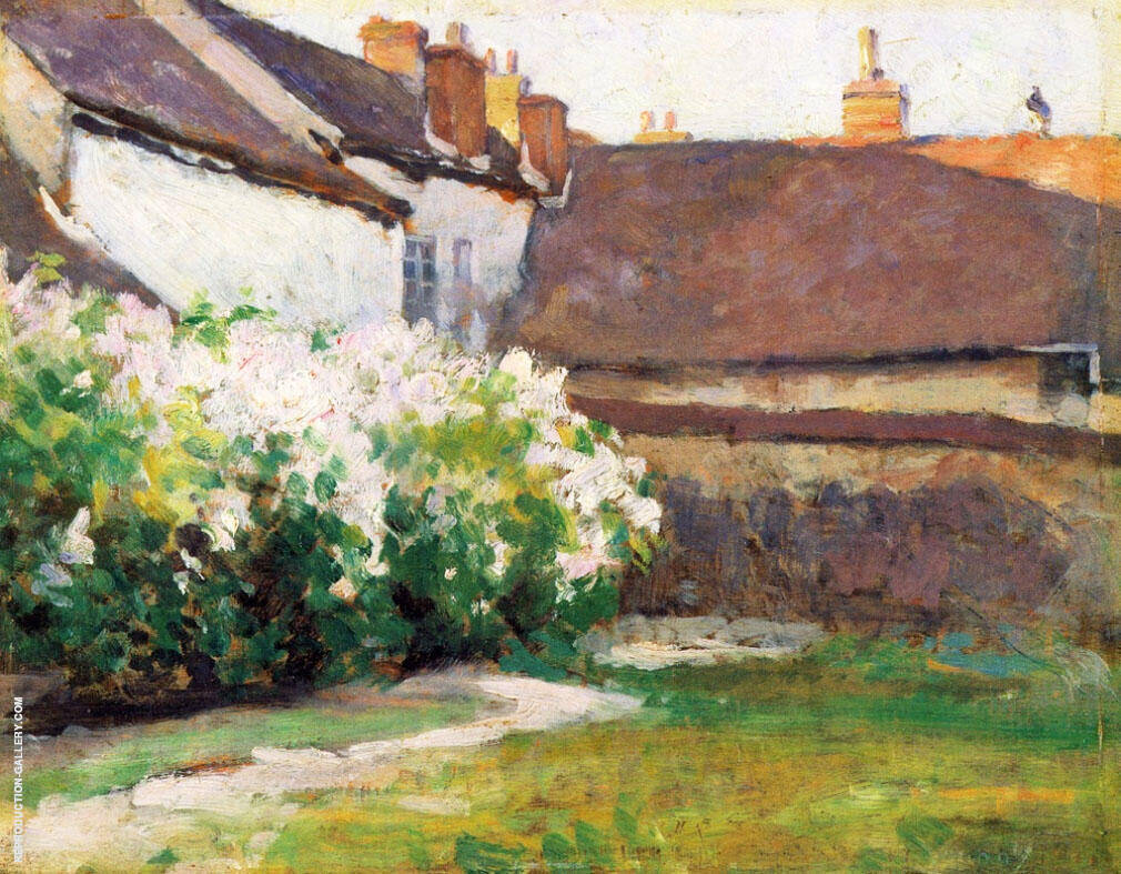Afternoon Shadows Grez France Painting By Robert William Vonnoh
