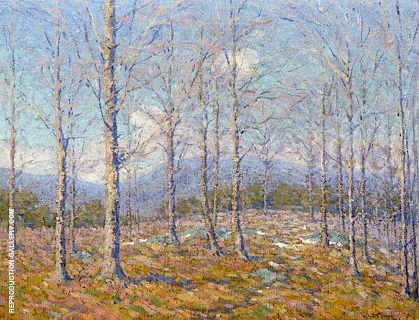After The Leaves Fall By Robert William Vonnoh