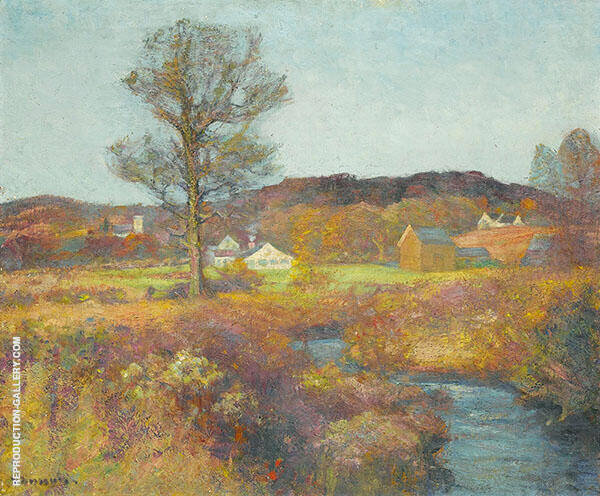 A New England Valley Painting By Robert William Vonnoh