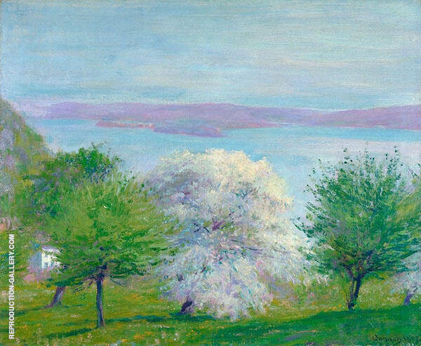 Apple Bloom Painting By Robert William Vonnoh - Reproduction Gallery