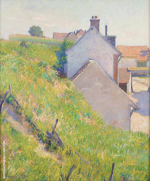 A Sunlit Hillside 1890 Painting By Robert William Vonnoh