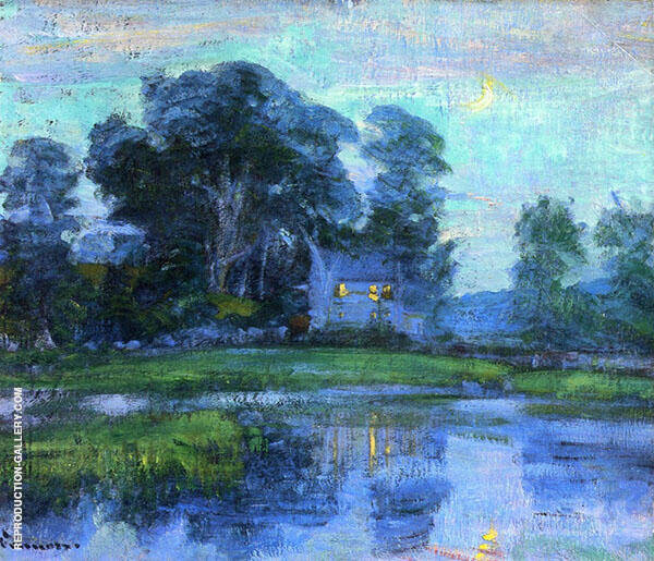 At Eventime Painting By Robert William Vonnoh - Reproduction Gallery
