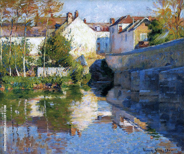 Beside The River Grez Painting By Robert William Vonnoh