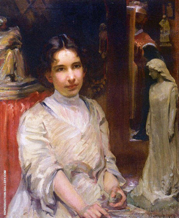Bessie Potter Vonnoh By Robert William Vonnoh