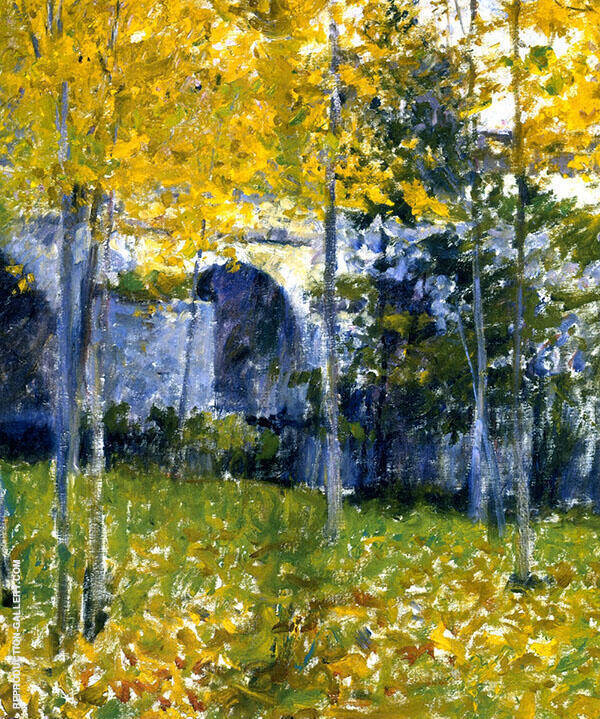 Bridge at Grez Painting By Robert William Vonnoh - Reproduction Gallery