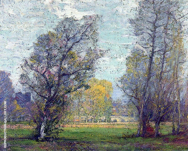 Clouds and Glow Autumn France Painting By Robert William Vonnoh