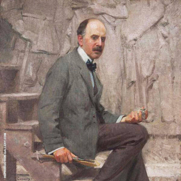 Daniel Chester French in His Chesterwood Studio By Robert William Vonnoh