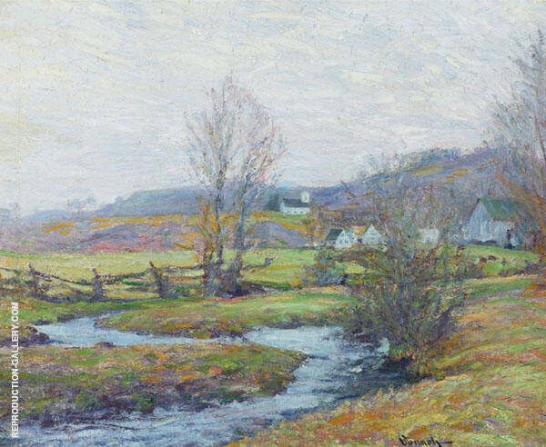 Early Spring Pleasant Valley Lyme Connecticut c1916 Painting By ...
