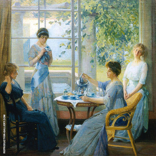 Ellen Axson Wilson and Her Three Daughters 1913 Painting By ...