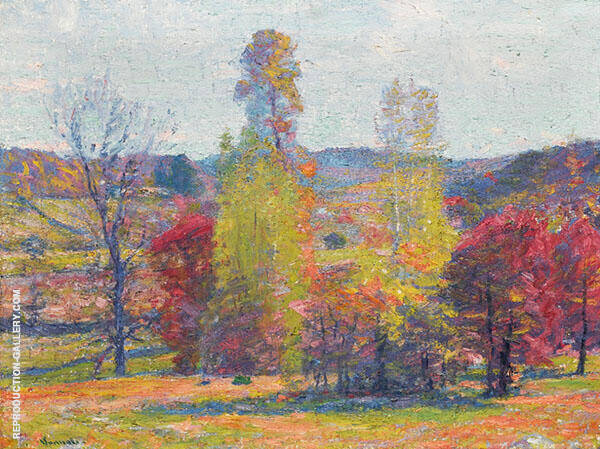 Fecund Autumn Painting By Robert William Vonnoh - Reproduction Gallery