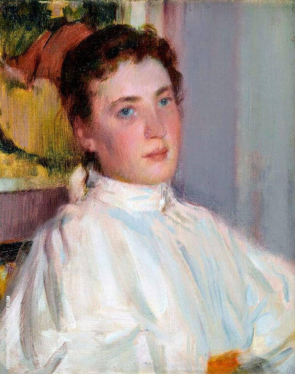 Girl from The North Painting By Robert William Vonnoh
