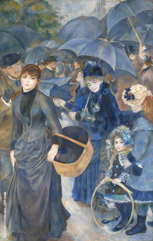 Umbrellas c1886 By Pierre Auguste Renoir