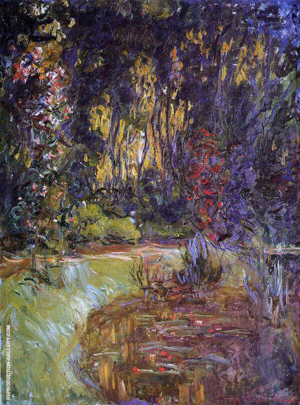 Water Lily Pond 2 By Claude Monet