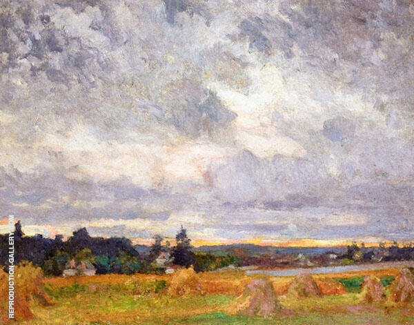 Haystacks Painting By Robert William Vonnoh - Reproduction Gallery