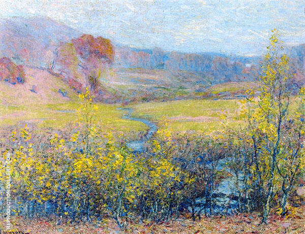 Late Autumn Painting By Robert William Vonnoh - Reproduction Gallery