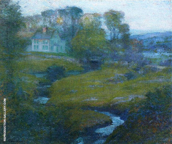 Lingering Rain Moon and Eventide By Robert William Vonnoh