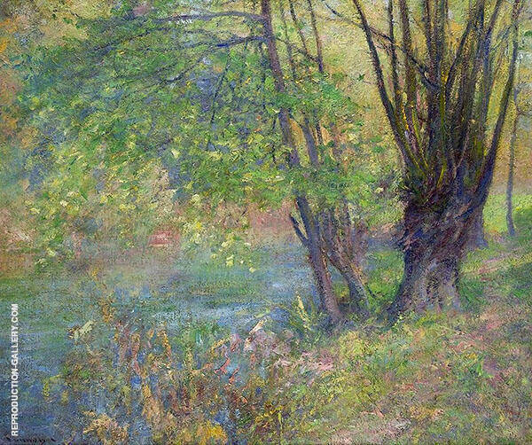 Lure of The River Bank Painting By Robert William Vonnoh
