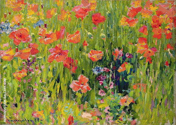 Poppies Painting By Robert William Vonnoh - Reproduction Gallery