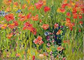 Poppies By Robert William Vonnoh