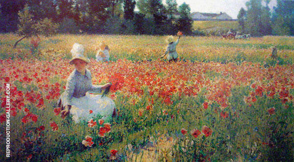 Poppies II By Robert William Vonnoh