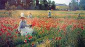 Poppies II By Robert William Vonnoh
