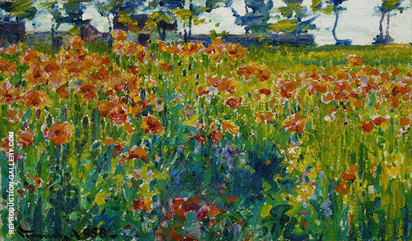 Poppies in France 1888 Painting By Robert William Vonnoh